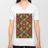 escher V-neck T-shirts featuring Escher Tile III by RingWaveArt