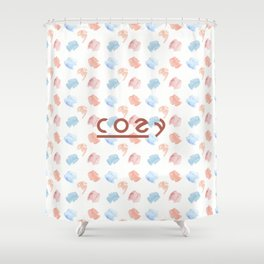 cozy print with sweaters Shower Curtain