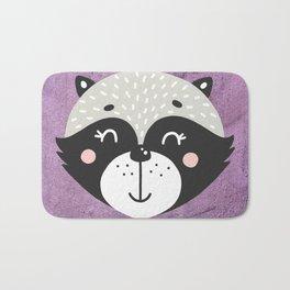 Raccoon Face Bath Mat