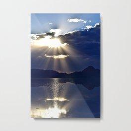 Salt Flat Sunset Metal Print