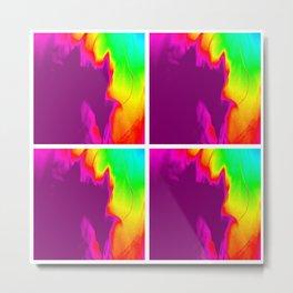 Color Explosion 4 Panel Metal Print