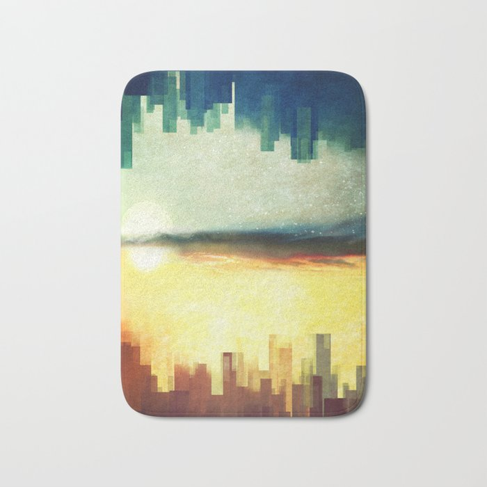Parallel cities Bath Mat