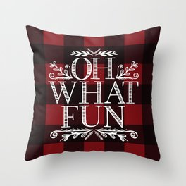 Oh What Fun Red Throw Pillow
