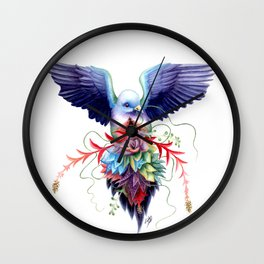 Pink-necked Green Fruit Dove Wall Clock