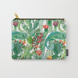 chameleon cacti pattern Carry-All Pouch