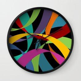 Colorful Ribbons Wall Clock