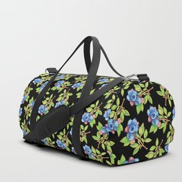 Wild Blueberry Sprigs Duffle Bag