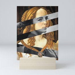 "Sandro Bottiecelli's Venus from ""Venus and Mars"" & Liz Taylor Mini Art Print"