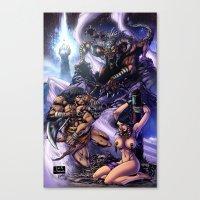 conan Canvas Prints featuring Conan by MonsterBox