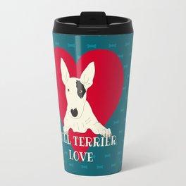 Bull Terrier Love Travel Mug