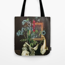 Florales Portrait Disaster Tote Bag