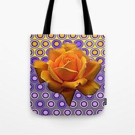 GOLDEN GARDEN ROSE MODERN ABSTRACT Tote Bag