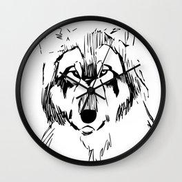 Wolf sketch Wall Clock