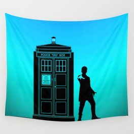Tardis With The Twelfth Doctor Wall Tapestry