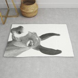 Black and white donkey Rug