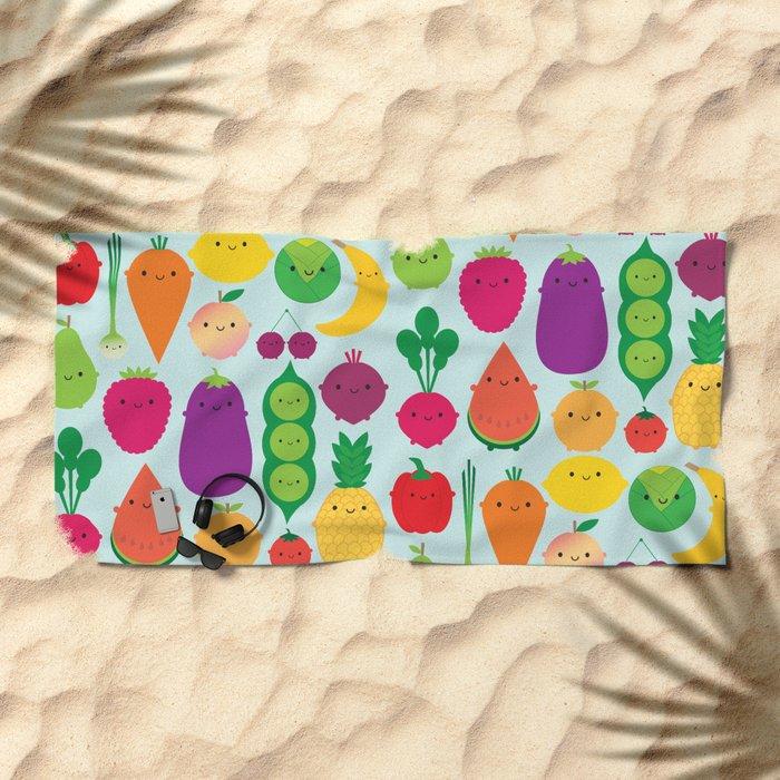 5 A Day Beach Towel