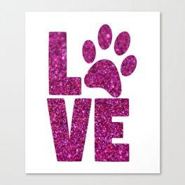 Dog Love Canvas Print