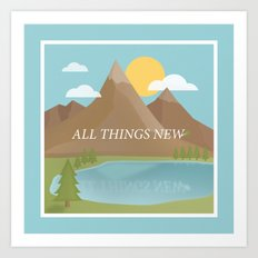 All Things New - blue (version 2) Art Print
