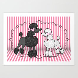 Pretty Poodles Art Print