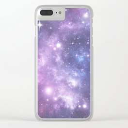 Space Frontier - Purple Clear iPhone Case