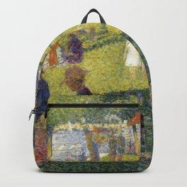 """Georges Seurat """"A Sunday on La Grande Jatte (study)"""" (1884-85) Backpack"""