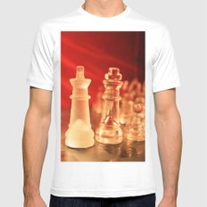 Chess1 Mens Fitted Tee White MEDIUM