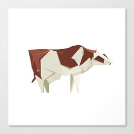 Origami Cow Canvas Print