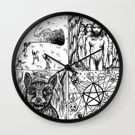 Ancient Warlock Nightstalkers Wall Clock