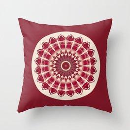 Mandala red splendor Throw Pillow