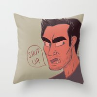 derek hale Throw Pillows featuring Derek by The Art of Nicole