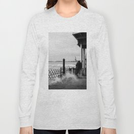 Liberty from the back of The Boat Long Sleeve T-shirt