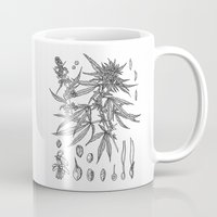 cannabis Mugs featuring cannabis sativa by Oxxygene