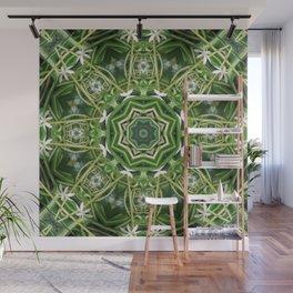 Spider Plant Kaleidoscope Art 5 Wall Mural