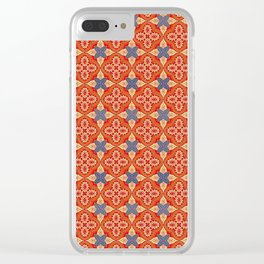 Moroccan Motet Pattern Clear iPhone Case
