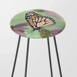 Monarch Butterfly Art, Orange Butterfly Painting Counter Stool