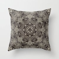 spiritual Throw Pillows featuring Spiritual Mantra by Diego Tirigall