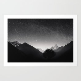Himalayas at Night Art Print