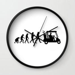 Evolution - golf  black&white Wall Clock