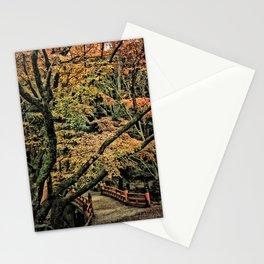 Autumn Bridge in Nara, Japan Stationery Cards