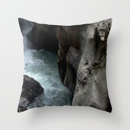 Peering into the Pool of Box Canyon Falls Throw Pillow
