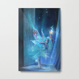 The Blue Fairy Metal Print