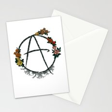 Anarchy (but with flowers) Stationery Cards