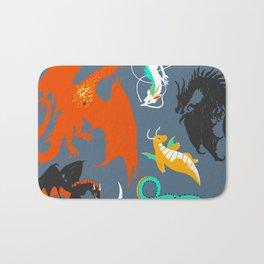 A Flight with Dragons Bath Mat