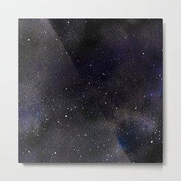 Watercolour Galaxy Starry Night Metal Print