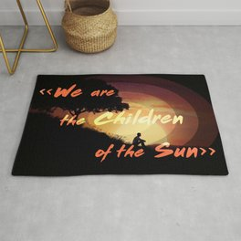 we are the children of the sun Rug