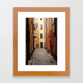 Stockholm Alley Framed Art Print