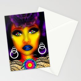 SLASH OF COLOR Stationery Cards