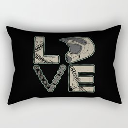 I Love Dirt Bike | Motocross Rectangular Pillow