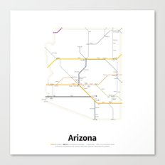 Highways of the USA – Arizona Canvas Print