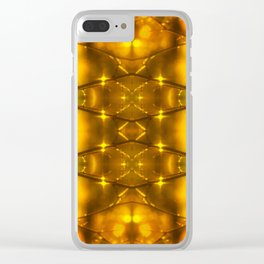 Sparkling Drops-yellow pattern Clear iPhone Case